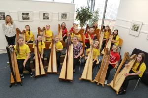 Music Generation Harp Ensemble (Photo: Barbara Flynn)